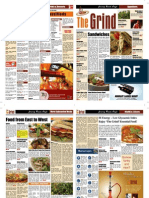 The Grind Newspaper format Menu