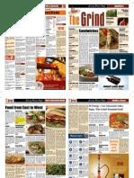 The Grind Newspaper format Menu