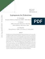 Leptogenesis for Pedestrians