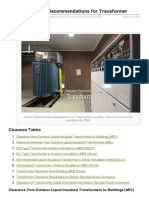 Safety Clearance Recommendations for Transformer