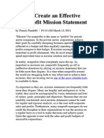 Effective Non-Profit Mission Statement