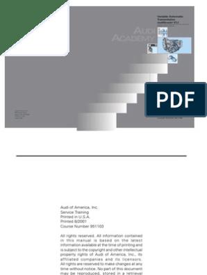 Audi 01J Multitronic CVT | Transmission (Mechanics) | Clutch