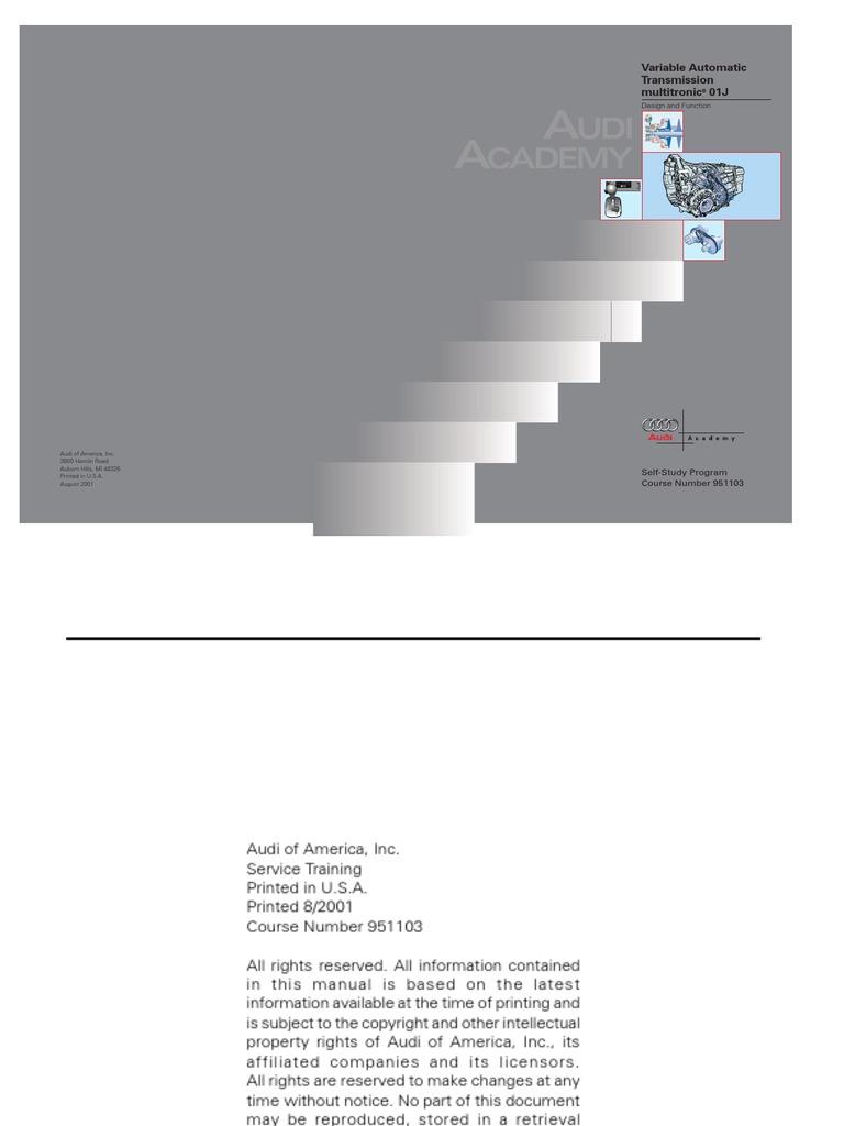 Audi 01j multitronic cvt transmission mechanics clutch fandeluxe Image collections