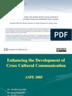 Enhancing the Development of Cross Cultural