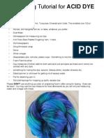 Acid Dyeing Tutorial
