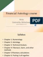 Financial Astrology Course Syllabus