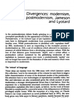 Nicholls, Peter - Divergences Modernism, Postmodernism, Jameson and Lyotard