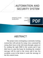 Home Automation and Security System Ppt