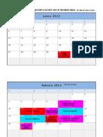 Calendario Escolar Ed Secundaria 2013
