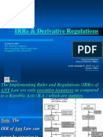 IRR and Regulations