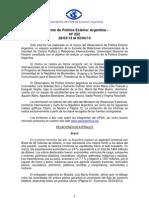 Informe de Política Exterior Argentina