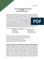 Informe de Política Exterior Uruguaya