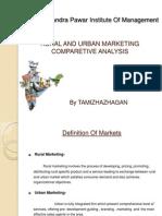 ruralandurbanmarketingcomparetiveanalysis-110607093752-phpapp01