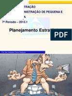 AULA  - PLANEJAMENTO ESTRATÉGICO