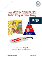 Comparison in Pricing Policies- Product Pricing vs. Service Pricing