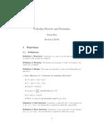 Calculus Review Formulas