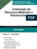 Adm Materiais - Unidade III - Armazenagem
