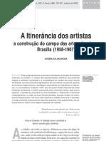A Itinerância dos artistas