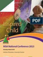 MSA Conference Brochure 2013