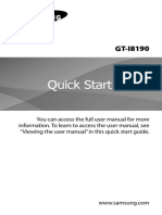 Samsung Galaxy S3 Mini GT-I8190 Quick Start Guide