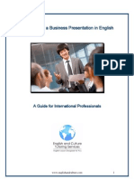 How to Give a Business Presentation in English Guide