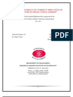 Project Report on Currency Derivatives