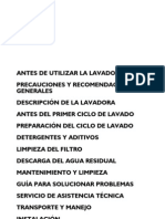 Manual Lavarropa Carga Arriba