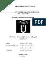 Prestamos Lexicales Del Quechua a La Lengua Ashaninka_trabajo Final_20_junio_2011