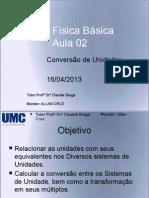 Aula 02 - Física - Conversão de Unidades