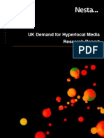 UK demand for hyperlocal media