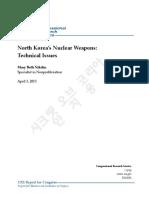 북한핵폭탄6개보유추정 20130403 미의회조사국보고서 안치용