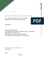Andreas Patzer Antisthenes Der Sokratiker. Das Literarische Werk Und Die Philosophie, Dargestellt Am Katalog Der Schriften PhD Heidelberg 1970