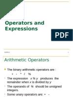 5 Operators Expressions