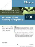 43603472 Risk Based Testing Deferring the Right Bugs