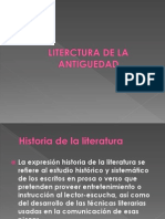 Literctura de La Antiguedad