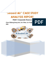 Sealed Air Co Case Study Queestions Why Did Sealed Air Undertake a Leverag