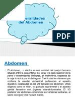 Generalidades Del Abdomen