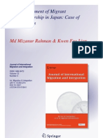 Bangladeshi Immigrant Businesses in Japan