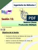 Sesión 15.0 IM I - USMP- Balance de Líneas de Fabricación - Balance Líneas Múltiple