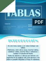Disertación Tablas