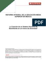 REFORMA INTEGRAL DE LA EDUCACIÓN MEDIA SUPERIOR EN MEXICO