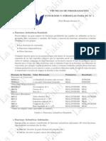 Funciones y Fórmulas de TP PC1 PUCP - La Faku