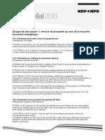 Résolutions du NPD