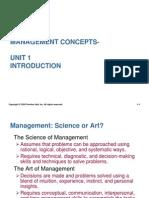 Unit 1 Intro to Management