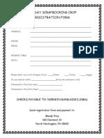 Norwin Band Scrapbooking FUNdraiser Registration Form