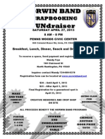 Flyer for Norwin Band Scrapbooking FUNdraiser