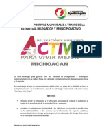 Escuelas Municipales a Traves de La Estrategia Municipio Activo