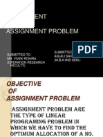 Asighnment Problem