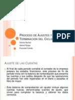 Proceso de Ajustes y Terminación del Ciclo Contable