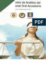 Memorias del Encuentro de Análisis del Sistema Penal Oral Acusatorio